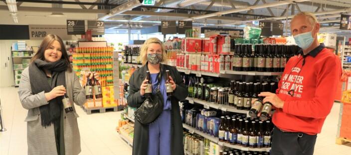 Selger Bohem-øl i butikk