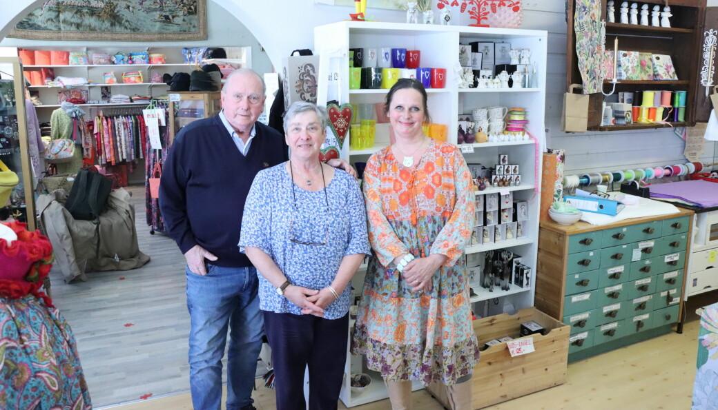 Sigbjørn, Jorunn og Kjersti Støve driver Tante Marie, som er en nisjebutikk som har tålt tidens tann.