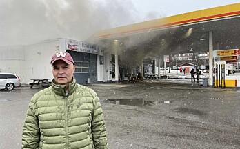 Morgan oppdaget brannen