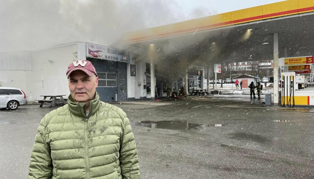 Morgan Vikertorpet var en av de som varslet om brannen ved Jafs. Han forsøkte å slukke de første flammene, men forsto at det var nytteløst.