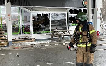 Se bildene fra gatekjøkken-brannen