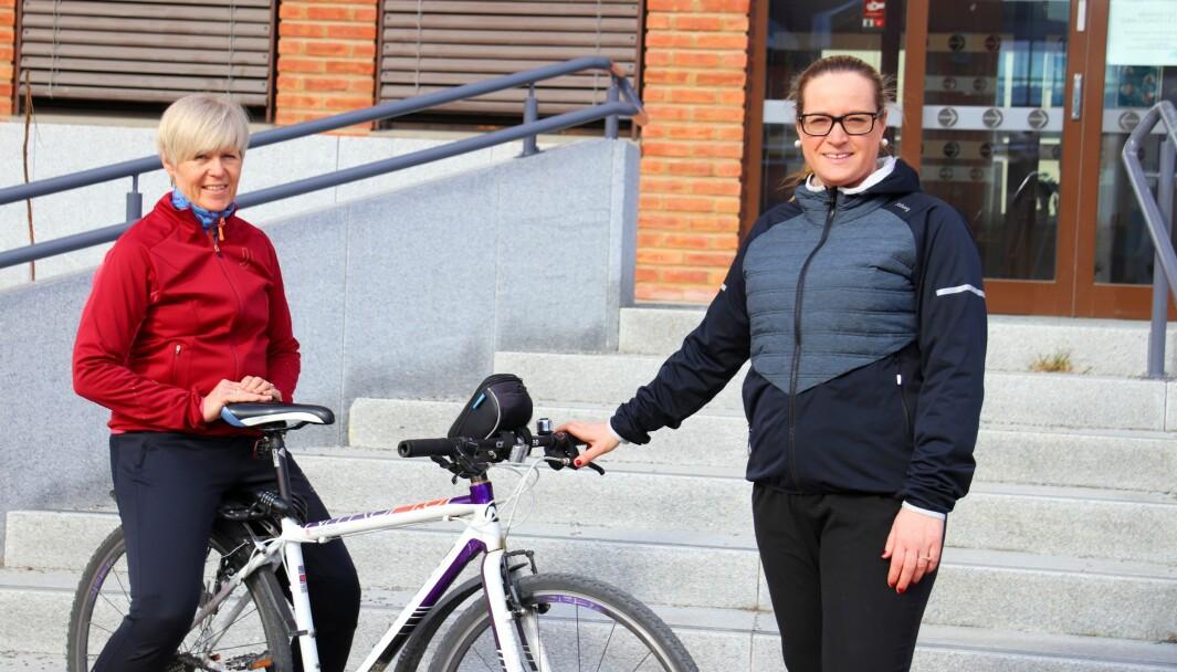 Hilde Nygaard og Ingunn Fossmellem i Kongsvinger kommune er blant dem som står bak aktivitetskampanjen i Kongsvinger.