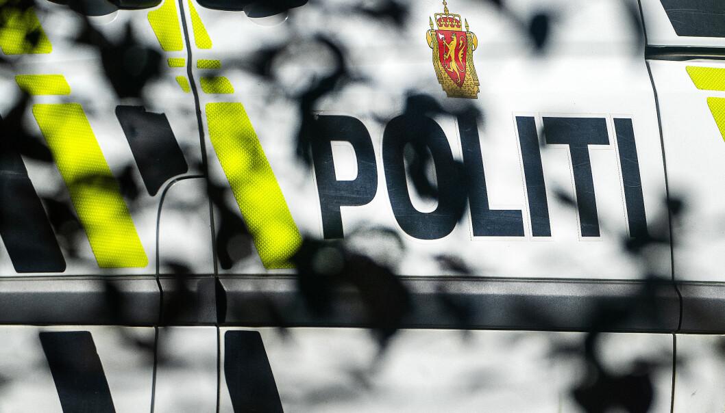 Oslo 20200826.  Politi logo på bil. Foto: Gorm Kallestad / NTB