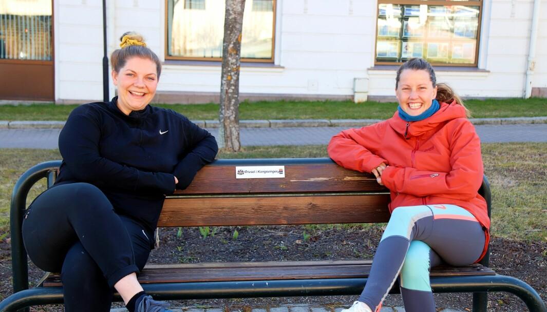 Terese Andersen og Malin Jonsrud Heiberg starter gågruppe for gravide i Kongsvinger. Første tur er torsdag 6. mai og går fra Promenaden kafe kl. 10.
