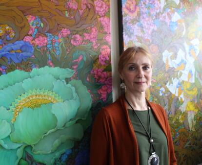 Stiller ut malerier på Nasjonalmuseet – ett med lokal tilknytning