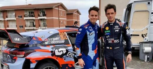 Kjørte sitt andre løp i en WRC-bil og fikk skryt av Hyundai-sjefen