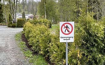Nekter gjennomgang mellom Løkkegata og O.A Hexumsvei