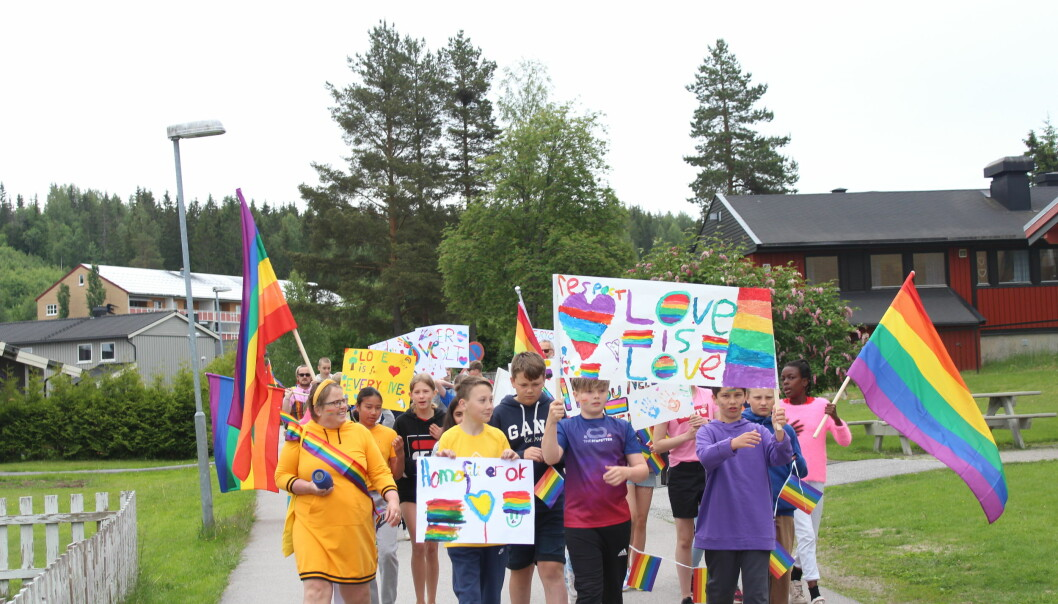Det var sjetteklassingene på Vennersberg skole som selv mente at Kongsvinger trengte en Pride-parade.