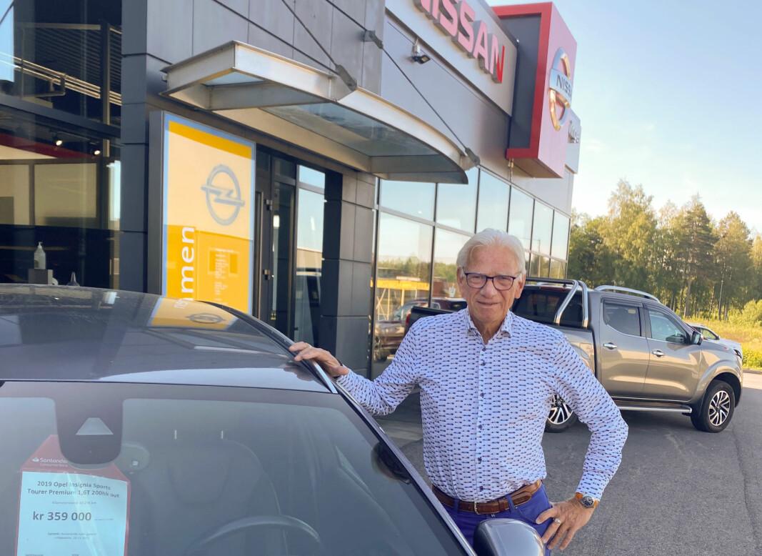 Oddbjørn Roverudseter har vært sentral i byens bil-forretninger i en mannsalder, men nå har han snart solgt sin siste bil.
