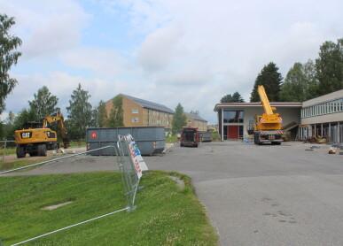 Utbyggingen av skolen er i gang