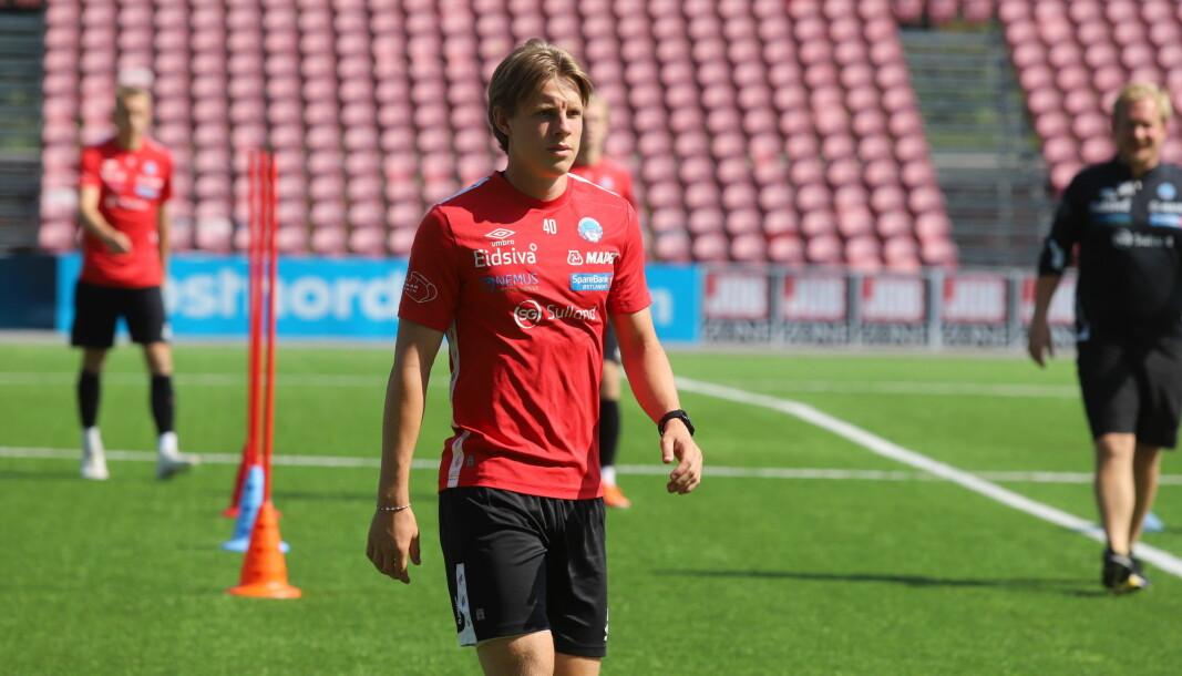 I cupkampen mot Elverum får Alexander Håpnes sjansen har har ventet på. Da får han sin debut fra start.