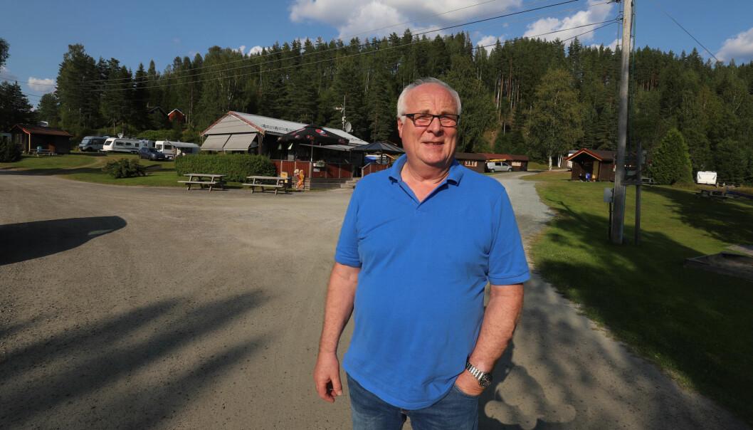 Gudmund Gulbrandsen ved Signernessjøen Familiecamping er glad for at årets campingsesong ble langt bedre enn fjoråret.