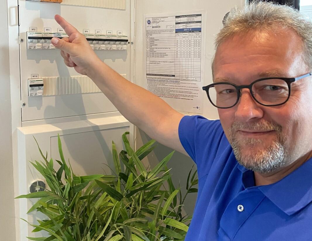 Visepresident i NITO og kommuneingeniør i Kongsvinger kommune, Kjetil Lein i sikringsskapet.