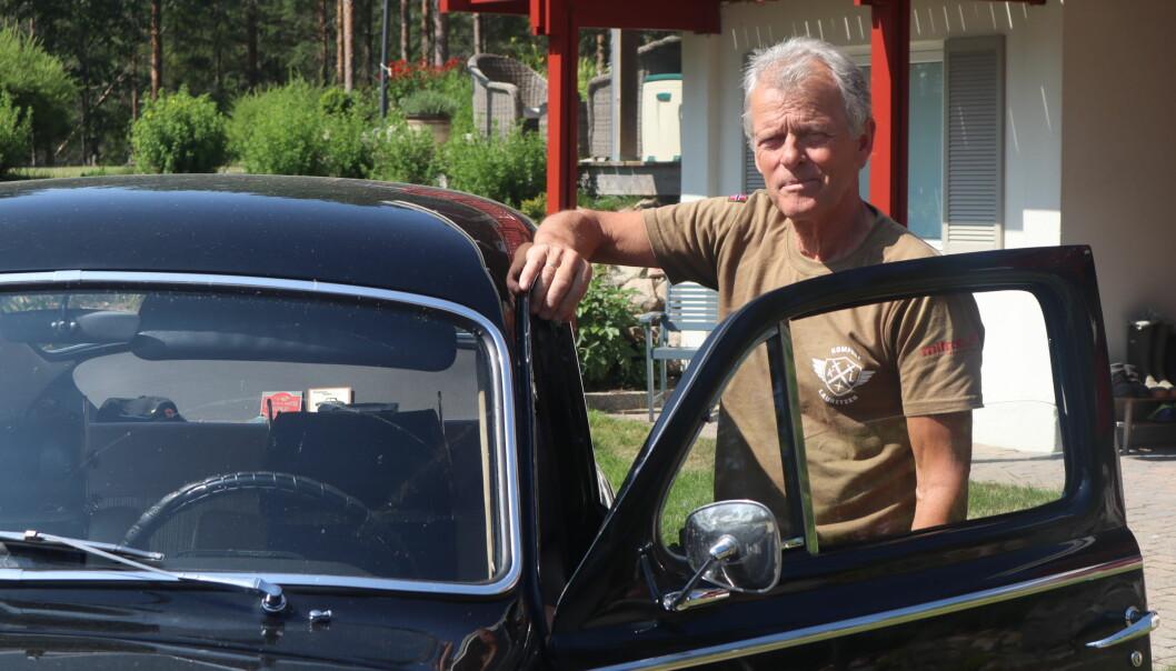 Bildilla har han fortsatt, i garasjen hjemme på Tangen har Tor Solbergseter flere fine gamle Volvoer.