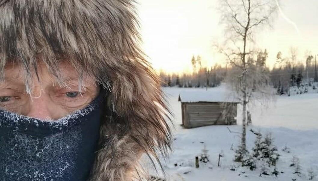 Selv om det er aldri så kaldt sørger Tor for at skiløypene ved Tussevangen og Kopparsmyrene er åpne for skigåere.
