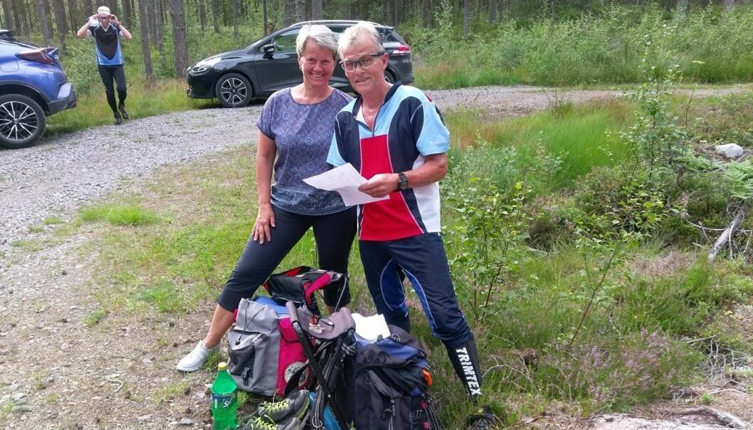 Tor og kona Mette er begge ivrige innen orientering