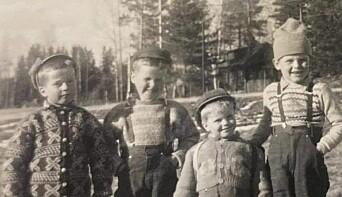 Det var alltid liv og røre i barndommen. Her er Tor til høyre i bildet.