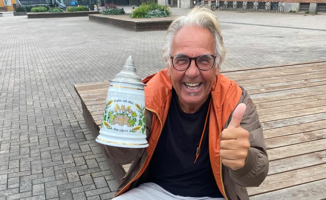 Kjell Fiskerud lover Oktoberfest med teltplass til inntil 1000 personer på Rådhusplassen lørdag 16. oktober.
