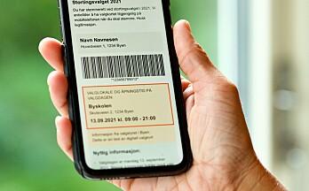 Nå får du digitalt valgkort