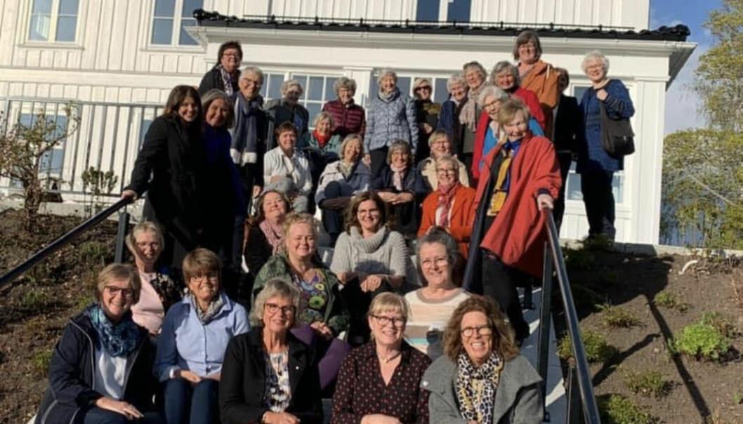 Kvinnenettverket Soroptimist sin lokale klubb i Kongsvinger feirer i år 70 år. Her et bilde fra en samling før pandemien.
