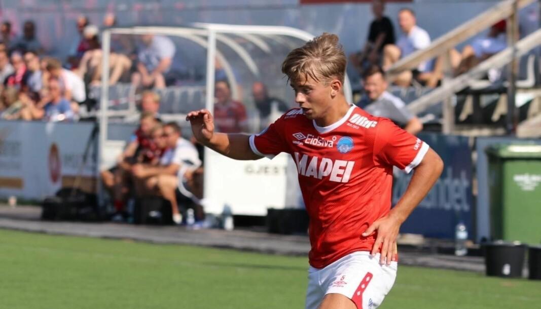 Kristian Selmer ble dagens helt med to scoringer mot Nybergsund.