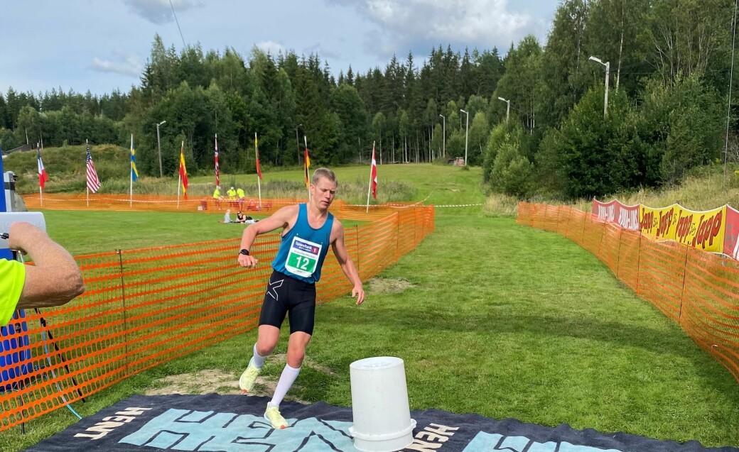 Jarle Marvik vant suverent lørdagens skogsmaraton i Kongsvinger.