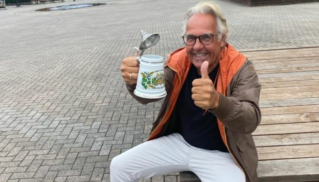 Kjell Fiskerud er optimistisk på byens vegne. Han bidrar til å skape liv i sentrum.