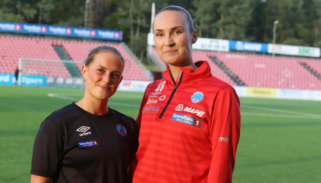 Emma Lien Håpnes (22) og Emma Vestby-Kornstad (24) utgjør rutinen på det unge KIL-laget som møter Lillestrøm i 2. cuprunde på Gjemselund onsdag kveld.