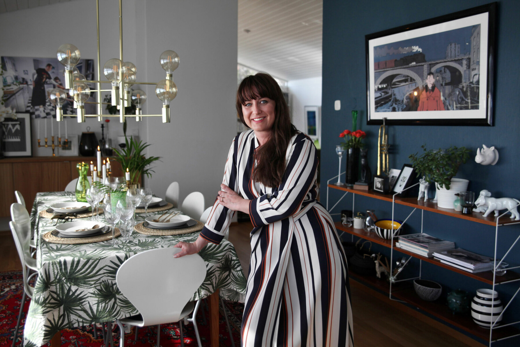 – Dette er et autentisk partyhus i Madmen-stil som går hånd i hånd med drinker og cocktails, ler Teresa Bergerud.