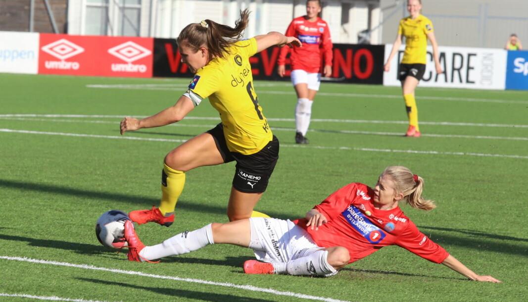 Nora Bergman og KIL-jentene viste ingen respekt for Emilie Haavi og Lillestrøm selv om de var spillemessig underlegne.