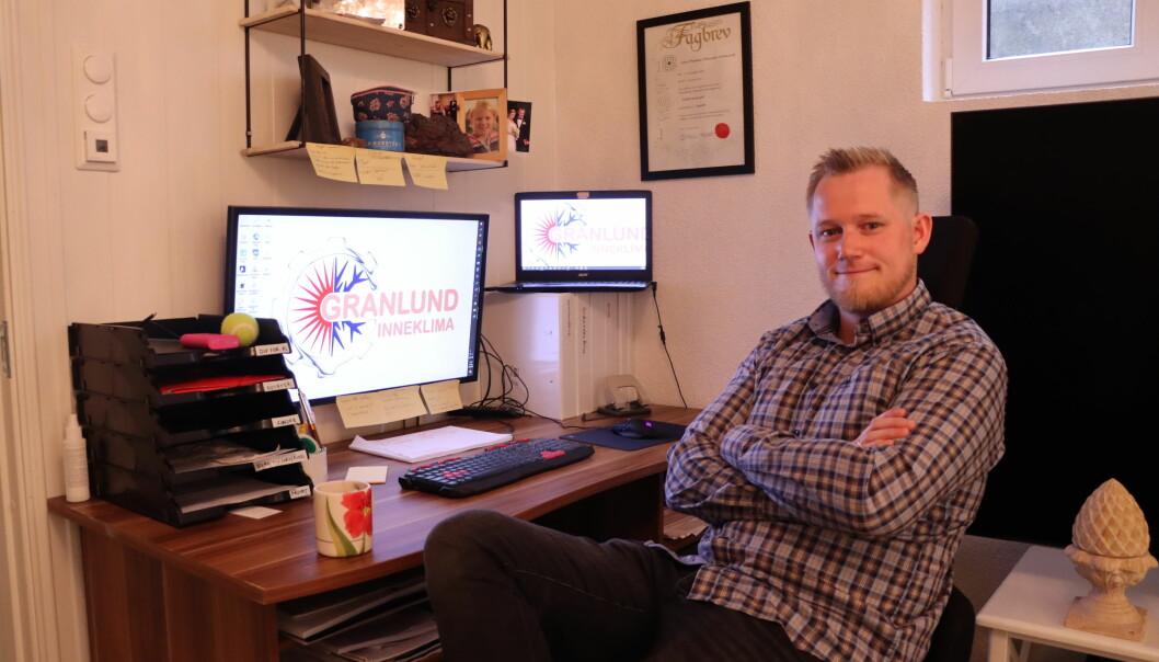 Granlund Inneklima er ny aktør i byen. Den bedriften har Lars Thomas Johansen Granlund startet opp selv hjemmefra.