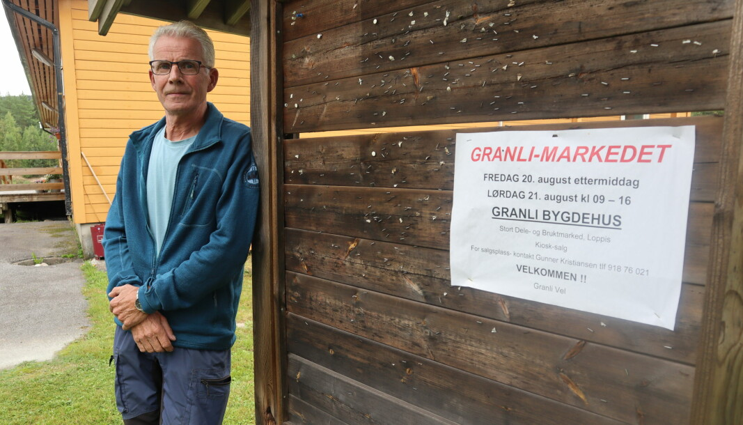 Gunnar Kristiansen i Granli Vel kan ønske velkommen til marked på Granli bygdehus førstkommende fredag og lørdag