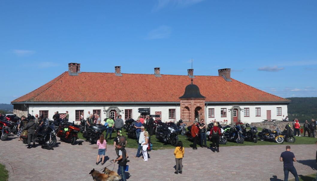 Mer enn 80 motorsykler av merket Harley Davidson inntok søndag Kongsvinger festning
