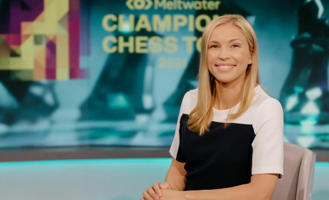 Kaja Snare fra Kongsvinger er ansiktet utad for sjakksendingene til Champions Chess Tour, som har nådd 100 millioner seere.