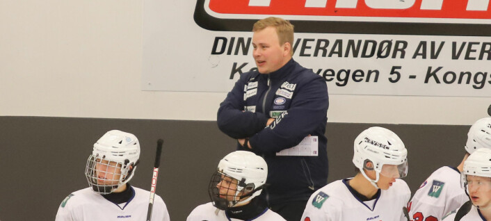 Simon er trener for noen av Norges største hockeytalenter