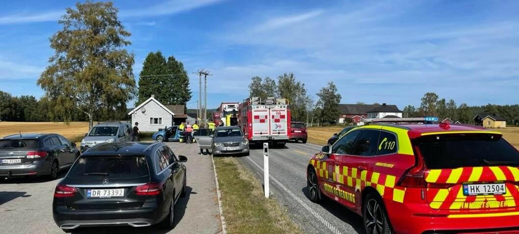 Motorsyklist skadet i ulykke