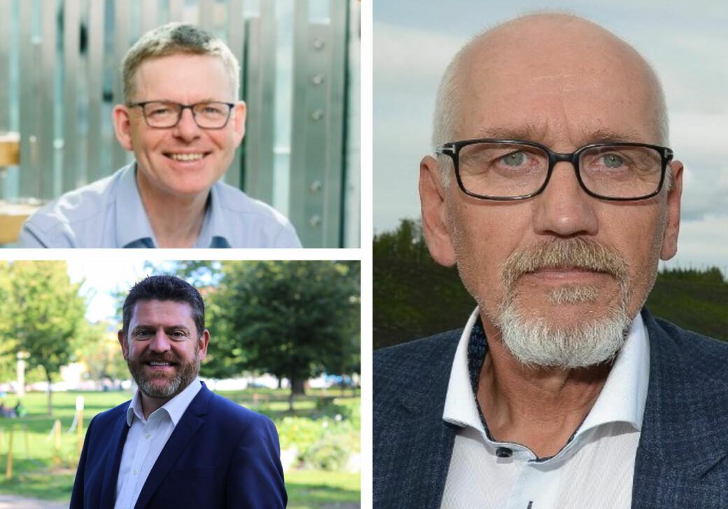 Jon Kristiansen, Chris Samways og Guttorm Tysnes.