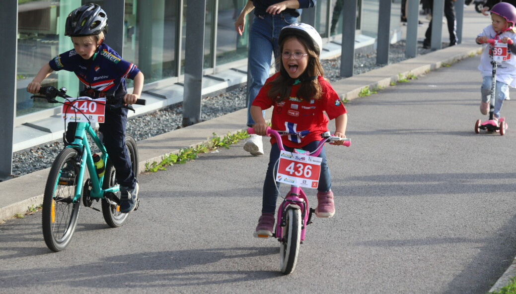 Tour of Norway for Kids samlet 90 unger i alderen 0-12 år.