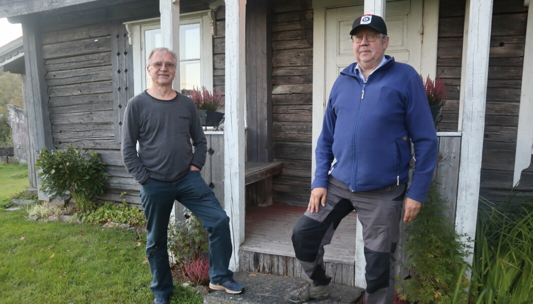 John Martin Øverby og Rolf Amundsen i Austmarka historielag er klare for tundag på Austmarka bygdetun lørdag 18 september