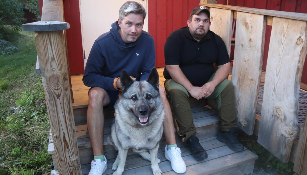 Cato Nytrøen Tråstadkjølen, med elghunden Tiko, og Tony Larsen i Kongsvinger jeger og fiskeforening, opplever stor interesse for jakt og friluftsliv.