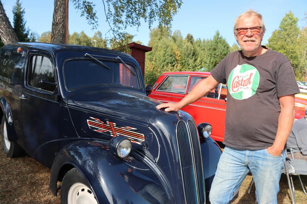 Tommy Fälling hadde med seg en vaskekte engelsk bil som trygt kan kalle seg veteran.