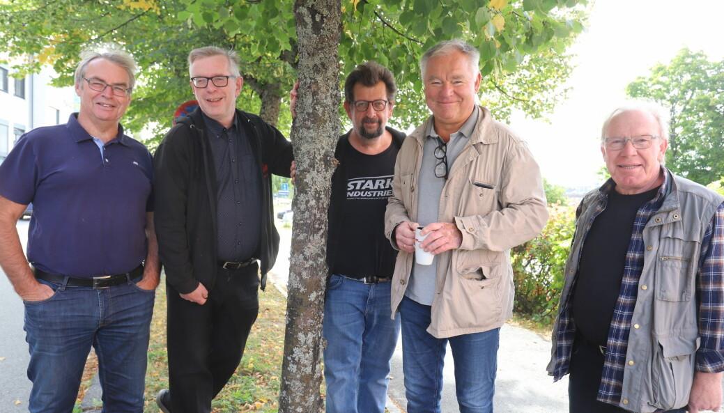Trond Eng (f.v.) Øivind Roos, Lars Ovlien, Lars Kleveland og Nils Oscar Ottesen var innom det meste som rører seg på kulturfronten for tiden.