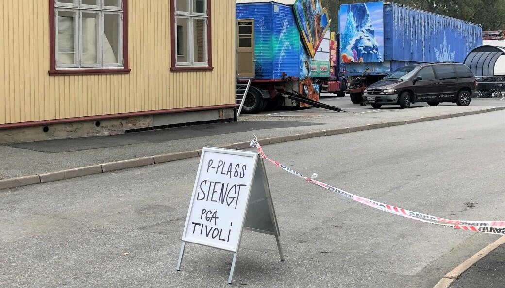 Marken er tilbake i Kongsvinger. Denne gang på parkeringsplassen utenfor Kongssenteret.