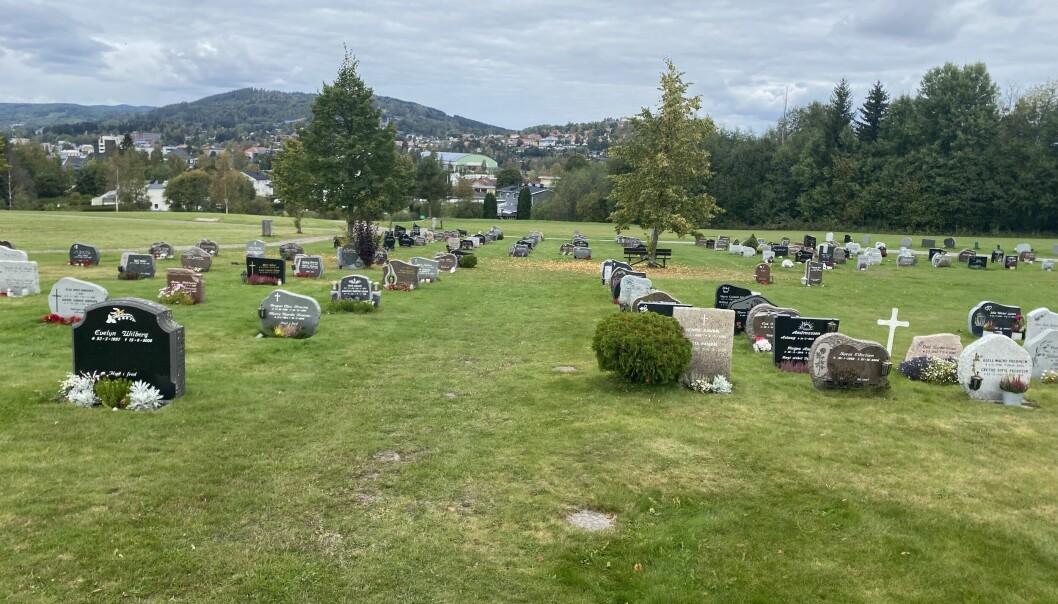 På Holt får kommunens innbyggere muligheten til å gravlegges på minnelund.