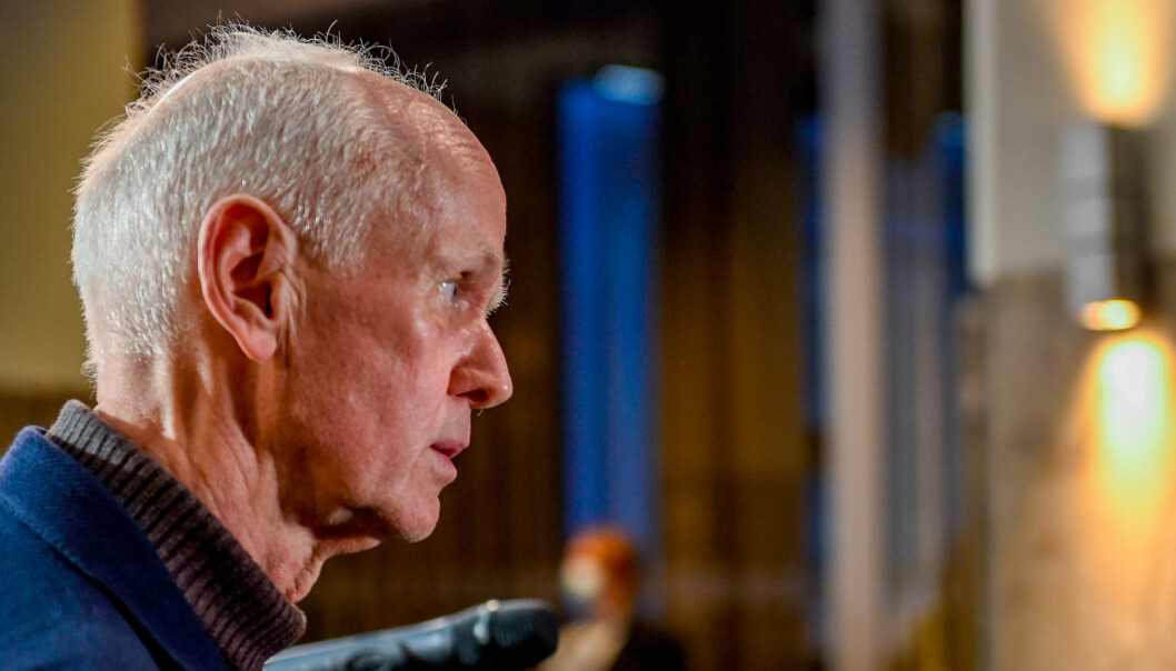 Smitteverndirektør Geir Bukholm etter pressekonferanse om vaksinasjonsstrategi.