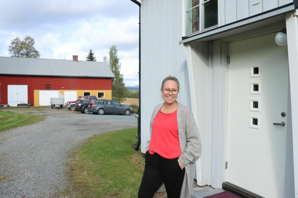 Christina Bjørkli kom flyttende denne uken, og trives allerede.