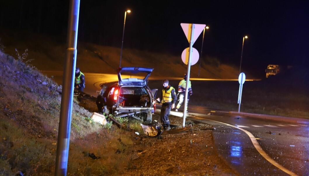 Enda en trafikkulykke i rundkjøringen mellom E16 og Galterudvegen inntraff mandag kveld.