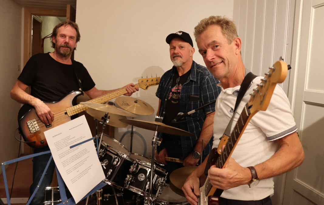 Bent Nylænder (t.v.), Rune Jullum og Are Dekkerhus spiller sammen igjen, 40 år senere. I tillegg kommer også Erik Lindberg, men han var for anledningen ikke med på øvingen.