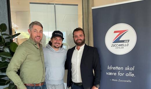 NHL-stjernen Mats Zuccarello og hockeyklubben på samme lag