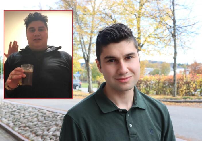 Sadug møtte veggen og spiste på seg 50 kilo: – Skjønte ikke at jeg hadde et problem før mamma fikk meg innlagt